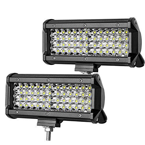 LED Arbeitsscheinwerfer 144W Cree LED Zusatzscheinwerfer Wasserdicht IP67 für Traktor, Auto, LED Strahler LKW, Offroad (2 Stück)