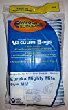 (Ship from USA) 9 pk EUREKA MM Mighty Mite 3670 and 3680 Canisters Vacuum Bags Part 153-9