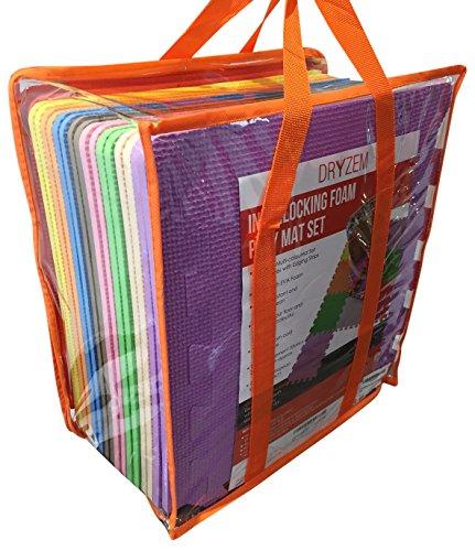 Juego de alfombras de goma EVA suave con bolsa de transporte, de Dryze