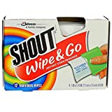 Shout Wipe & Go Instant Stain Remover Wipes 12 ea (Pack of 2)