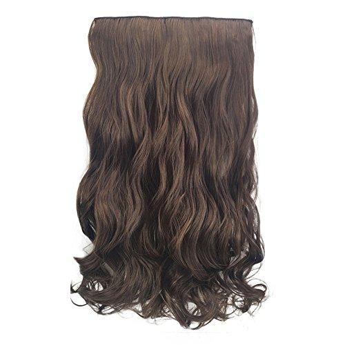 Luckhome 1Pc 5 Clip In Hair Extensions Ombre Haar Haarverlängerungen Stück Lockige Hübsche Frau Mädchen Perücke Haarwelle Rolle Perrücke Perücken Wig Haare Wigs(C)