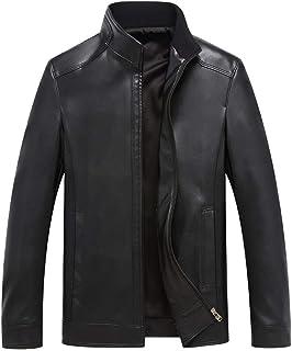 FOMANSH レザージャケット メンズ ライダースジャケット 本革 スタンドカラー 防風 バイクジャケット 春秋 冬 大きいサイズ M-4XL アウター