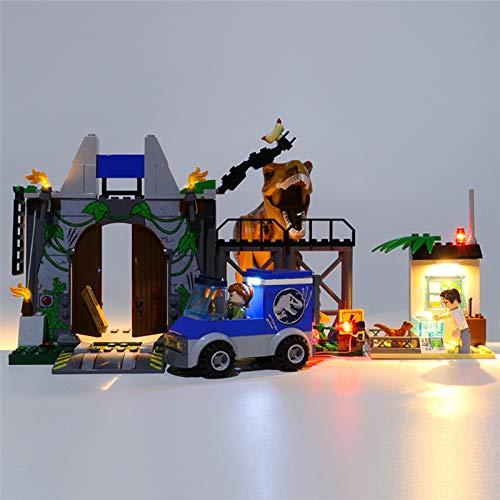USB Juego de Luces para Fuga de T.rex Modelo de Bloques de Construcción, Conjunto de Luces Lluminación Compatible con Lego 10758 (Modelo Lego no incluido)
