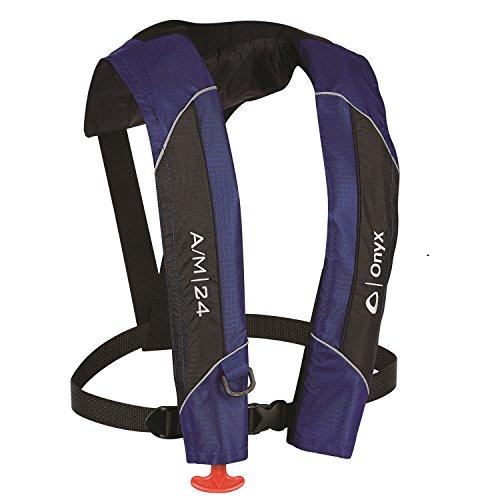 Onyx A/M-24 Automatic/Manual Inflatable Life Jacket, Blue