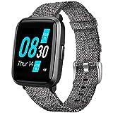 LvBu Armband Kompatibel für UMIDIGI UFit, Nylon Strick Replacement Uhrenarmband für UMIDIGI UFit Smartwatch (grau)