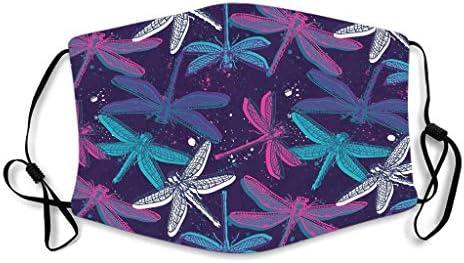 KittyliNO5 Libellen gezichtsbedekking grappige gezichtsbescherming voor volwassenen