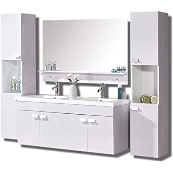 Grafica Ma Ro Srl Meuble Salle De Bain Modele White Elegance 120 Cm Blanc Vasque Lavabo Amazon Fr Cuisine Maison