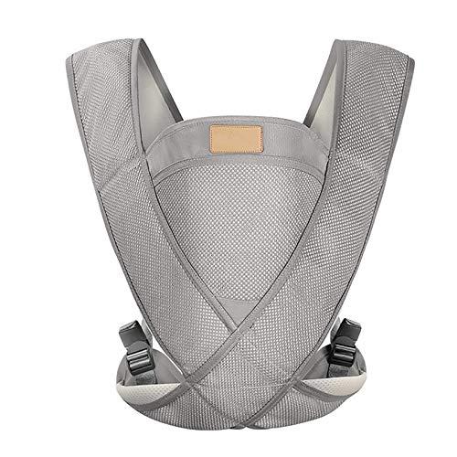 G&F Portabebes Ergonómico Portadores Espalda Llevar por Recién Nacidos Y Bebes Mayores (Color : Gray)