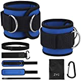 Ankle Cuff Straps for Cable Machines and Resistance Bands for Women & Men, Gym Exercise Bands Attachment,...