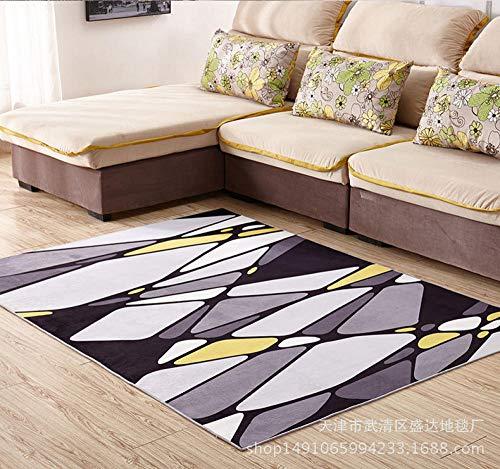 HXJHWB Modern Rich Striking Abstract Design - Eenvoudig geometrisch mozaïek patroon woonkamer slaapkamer salontafel mat antislip mat tapijt