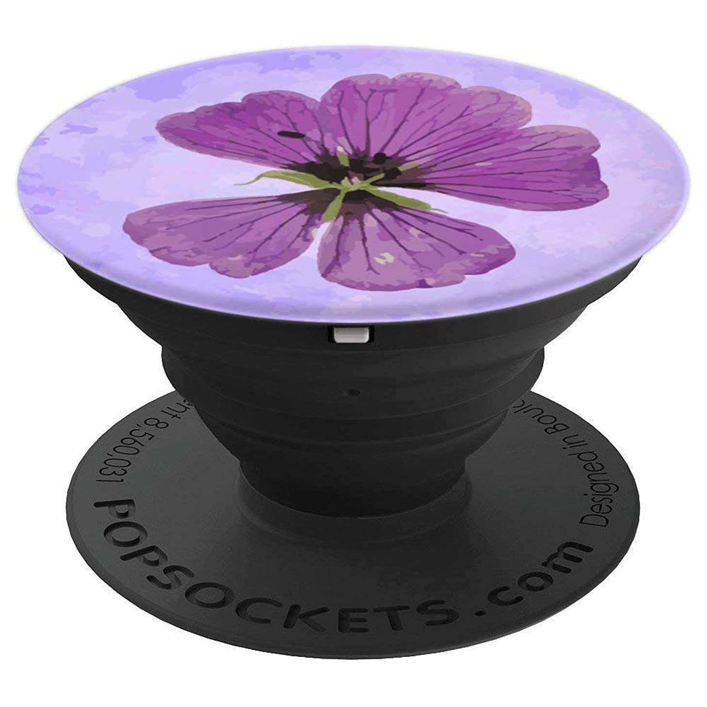 Classy Stylish Pressed Flower Lilac Purple - PopSockets Grip and Stand for Phones and Tablets