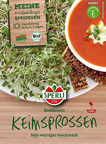 Bio Keimsprossen verschiedene Sorten Brokoletti Aroma Mischung Kresse Weizen Radies (Brokkoletti)