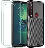 iVoler Cover per Motorola Moto G8 Plus, con 3 Pezzi Pellicola Vetro Temperato, Fibra di...