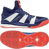 adidas Stabil X Mid, Chaussures de Handball Homme, Multicolore (Tinmis/Ftwbla/Rojsol 000), 48 EU