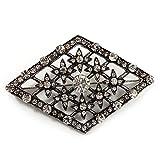 Spilla geometrica, In stile vintage, A motivo geometrico, In finto diamante, Con finitura ...