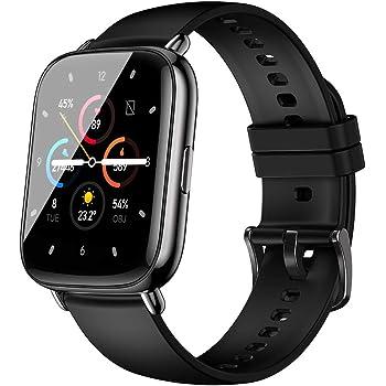 2021最新版 スマートウォッチ アプリでGPS搭載 1.69インチの大画面 天気予報 多運動モード smart watch フルタッチスクリーン 着信/アプリ通知 画面明るさ調整 ip67防水 腕時計 男女兼用 誕生日 iPhone/Android対応 日本語取扱説明書