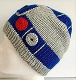 Handgestrickte Kinder Mütze R2D2 Star Wars Kopfumfang 50-52cm