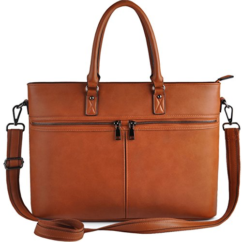 Laptop bag for Women,Business Computer Bags for Women Up to 15.6 Inch,EDODAY Casual Laptop Tote Bag,Brown