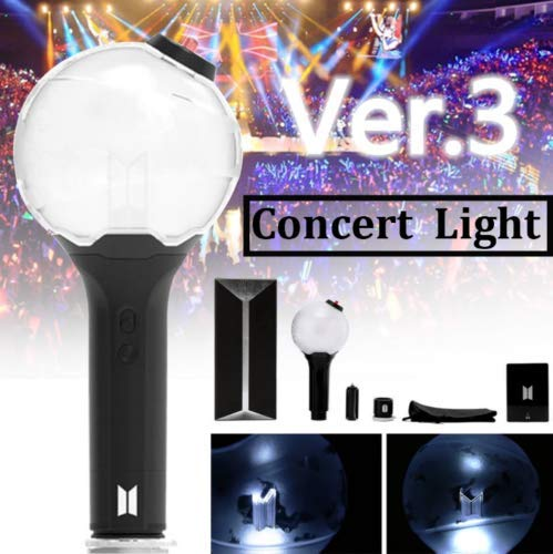 Greetuny KPOP BTS Light Stick avec Bluetooth Ver.3 Army Bomb Bangtan Boys Lampe de concert