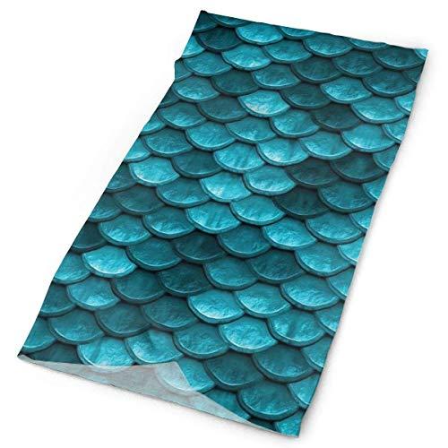 Hermoso azul marino verde azulado sirena peces escamas bandana cara cuello polaina cara bufanda máscara polvo-polvo, resistente al viento transpirable pesca senderismo correr ciclismo