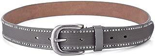 SGJFZD New Women's Rivet Belt Fashionable Wild Leather Thin Belt Men's Casual Sports Women's Pants Belt Tide (Color : Grey, Size : 110cm)
