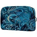 Bolsa Maquillaje Almacenamiento organización Artículos tocador cosméticos Estuche portátil Fantasía Volando dragón para Viajes Aire Libre