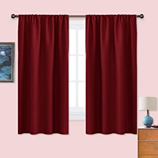 Best NICETOWN Burgundy Blackout Curtains and Drapes - Thermal Insulated Solid Rod Pocket Blackout Draperies/Panels for Christmas & Thanksgiving Gift (1 Pair, 42 by 63 inches, Burgundy Red) Review