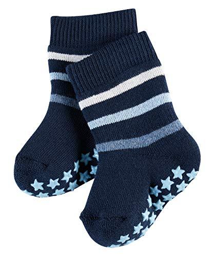 FALKE Baby Stoppersocken Multi Stripe Catspads - 86% Baumwolle, 1 Paar, Blau (Marine 6120), Größe: 74-80