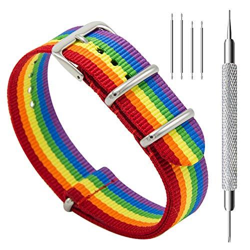 MEGALITH Cinturino Orologio Donna 18mm 20mm 22mm Balistico Cinturino Nato Cinturino in Nylon