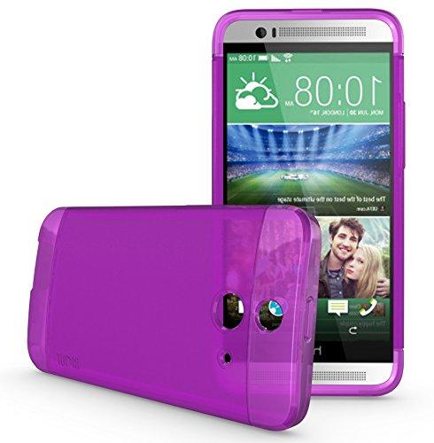 TUDIA LITE TPU Bumper Protective Case for HTC One (E8) (Purple)