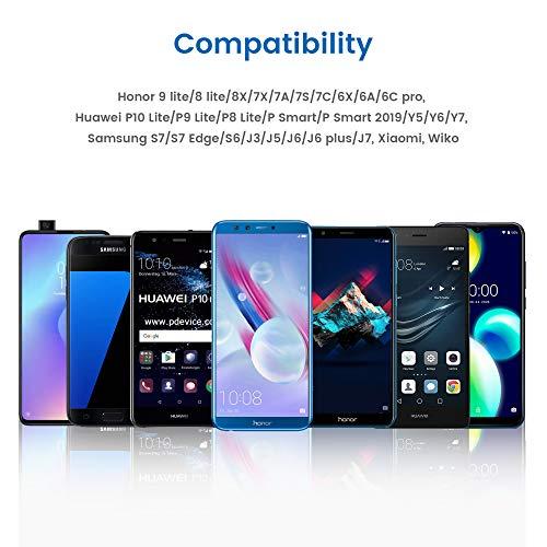 RAMPOW Micro USB Kabel, 1M/2er-Pack, USB Schnellladekabel Kompatibel mit Android Smartphones, Samsung Galaxy, Huawei, Sony, Nexus, Nokia, Kindle und Mehr - Schwarz