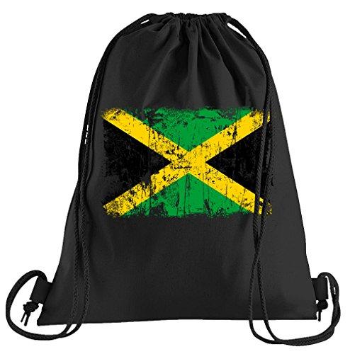 T-Shirt People Jamaika Vintage Flagge Fahne Sportbeutel – bedruckter Beutel – eine schöne Sport-Tasche Beutel mit Kordeln