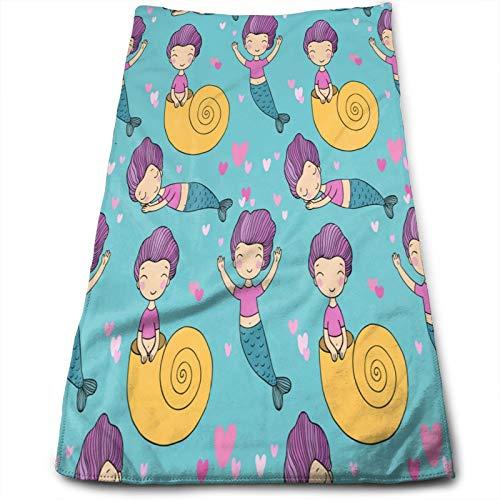 Toalla de baño muy suave con diseño de sirenita