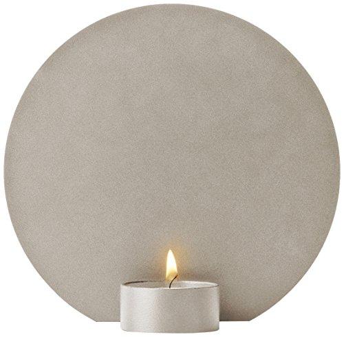Menu Teelichthalter, Metall, Sandfarben, 3 x 15 x 15 cm