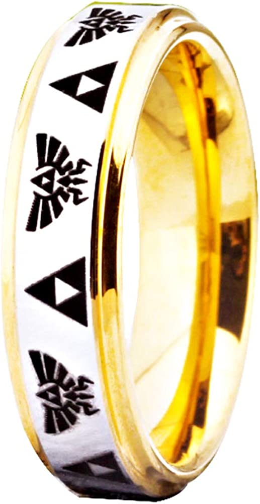 FREE Custom A surprise price is Easy-to-use realized Engraving The Legend of Trifor Crest Ring- and Zelda