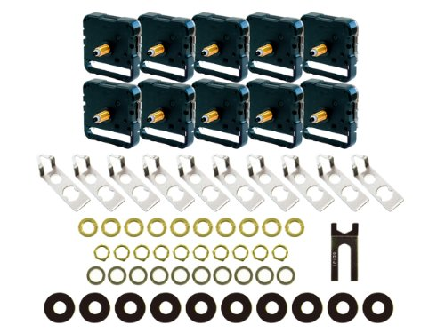 誠時(セイジ) 掛け時計用 クォーツ ムーブメントSP-390×10個入りセット (文字盤の厚さ六角ナット8mm 丸ナット10mmまで対応) SP-3900