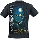 Iron Maiden Fear of The Dark Hombre Camiseta Negro XXL, 100% algodón, Regular