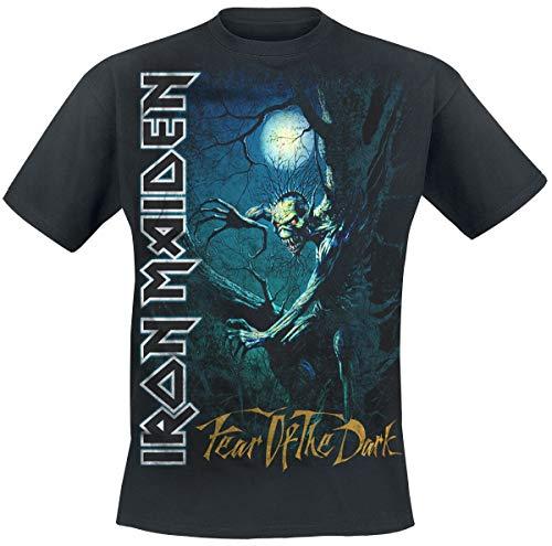 Iron Maiden Fear of The Dark Uomo T-Shirt Nero L 100% Cotone Regular