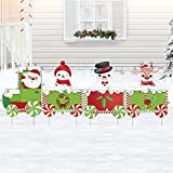 Christmas Decorations Outdoor - 62In Large Xmas Train Yard Stakes with String Lights - Giant Holiday Outside Decor Signs for Home Garden Front Yard Lawn Pathway Walkway