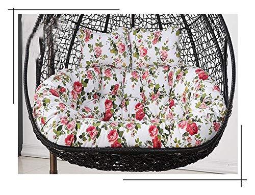 LLNN Home Decoration Swing Chair Cushion Hanging Garden Patio Outdoor Rattan Swing Chair Cushions, Swing Hanging Basket Seat Cushion, 110x150cm Hanging Basket Furniture Cushion (Color : Color-3)