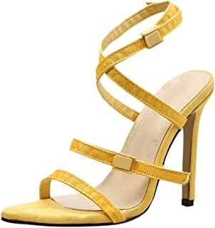 b7092970f1 Wulofs Summer Women s Sexy Roman Ladies Party Prom Buckle Strappy Heel  Shoes Sandals