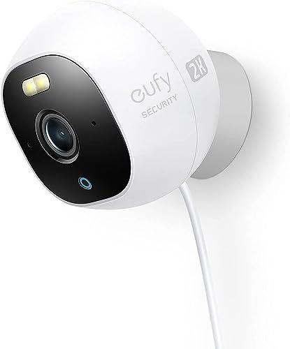popular eufy discount Security Solo OutdoorCam C24, All-in-One Outdoor Security discount Camera with 2K Resolution, Spotlight, Color Night Vision, No Monthly Fees, Wired Camera, Security Camera Outdoor, IP67 Weatherproof online