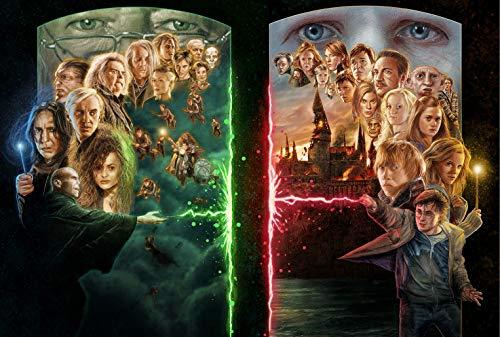 1000 Teile Puzzle,Harry Potter Panorama-Puzzle,Erwachsene,Puzzle unterlagen,Mehrfarbig,für die ganze Familie