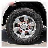 Meet's shop Tapas para Llantas 4pcs Aluminio Hubcaps Wheel Center Cap Cap Taps Caps Compatible con 2002-2013 Toyota Land Cruiser Prado 120 2700/4000 4.0L TY-088 TY-038 Insignia del Emblema