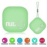 'Nut 2' Tracker GPS Bluetooth Key anti Perdus avec télécommande et alarme Intelligente Anti-Perte Traceur Clé Chercheur Portefeuille Chercheur Temps Réel Localisation pour IOS/Android , Vert