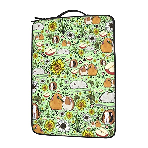 Fashion Laptop Sleeve Shockproof Laptop Case Cover 15.6 Inches Computer Briefcase Compatible with Ultrabook/Notebook/Tablet for Teens Women Men - Guinea Pigs and Flowers
