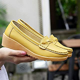 HAWEEL Soft and Comfortable Wild Casual Leather Shoes for Woman