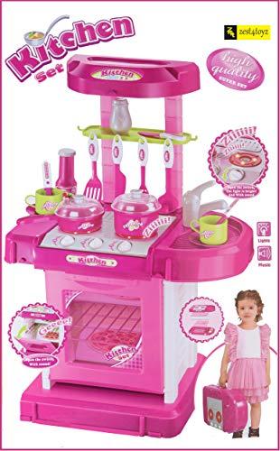 Zest 4 Toyz Kitchen Set Kids Luxury Battery Operated Kitchen Super Set...