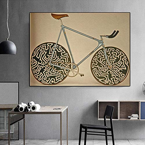 YB Poster beroemd merk Cinelli Bike afbeelding abstracte kunst klassieke canvas schilderijen wandschilderijen voor woonkamer cuadros wand kunst 30x40 cm geen lijst