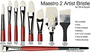 da Vinci Hog Bristle Series 5127 Maestro 2 Artist Paint Brush, Slanted Edge with Red Handle, Size 24 (5127-24)